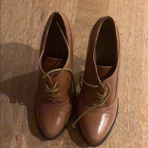 Tan Aldo booties. Size 6